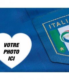 Prise en charge de léquipe de football italienne avec ce photomontage pour modifier