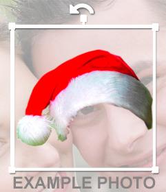 Photomontage de mettre un bonnet de Noël dans votre photo en ligne sans connaissance de la conception