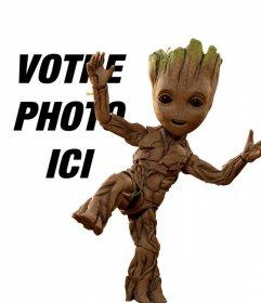 Photomontage avec bébé Groot