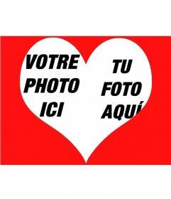 """Effet de photo pour mettre deux photos à l""""intérieur d""""un coeur"""