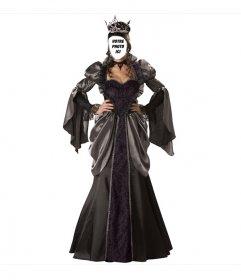 """Photomontage de la reine costume d""""Halloween pour mettre votre visage po"""