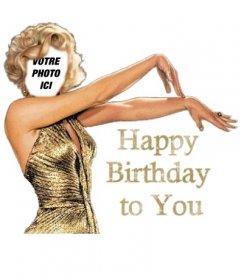 Joyeux anniversaire carte d'anniversaire de Marilyn Monroe personnalisable