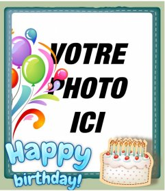 carte danniversaire gratuit personnalisable avec une photo photoeffets. Black Bedroom Furniture Sets. Home Design Ideas