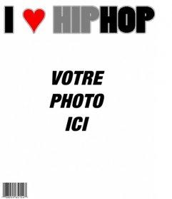 """J""""aime Hip Hop Magazine, la couverture personnalisable avec votre photo"""