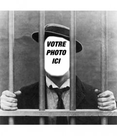 Montage photo avec votre photo dhomme en prison ou en prison