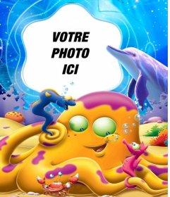 """Votre photo dans le fond d""""une mer pleine d""""images d""""animaux sous-marins"""