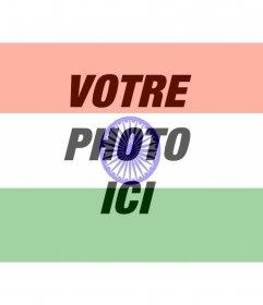 Drapeau de lInde à mettre sur votre photo en tant que filtre