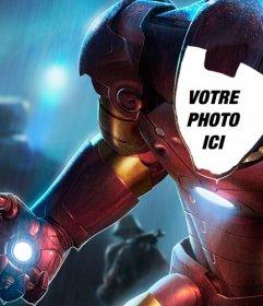 Photomontage de mettre votre visage dans la spéciale costume dIron Man