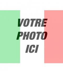 """Effet photo où vous pouvez mettre le drapeau de l""""Italie avec votre photo en ligne"""