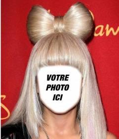 Habillez comme Lady Gaga avec ses cheveux blonds avec ce photomontage
