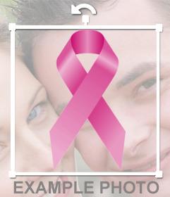 Nouer contre le cancer pour mettre sur votre photo de profil en ligne