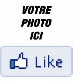 Mettez un Facebook Comme votre photo avec cet autocollant en ligne