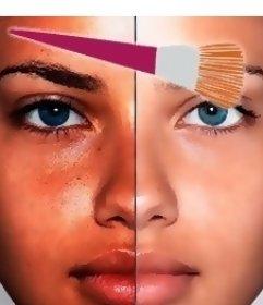 Effet de maquillage virtuel en ligne pour votre photo qui laissera beaucoup plus joli
