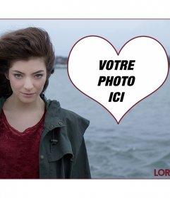 Mettez votre image avec la chanteuse mer Lorde