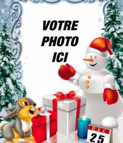 Photomontage jour de Noël à personnaliser avec des photos