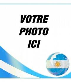 Cadre photo avec le drapeau de lArgentine pour mettre une photo de vous