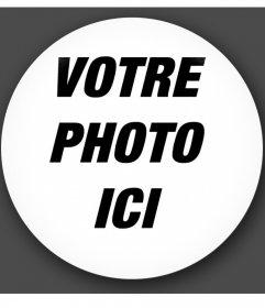 En forme de cadre de cercle à vos photos avec un effet de verre