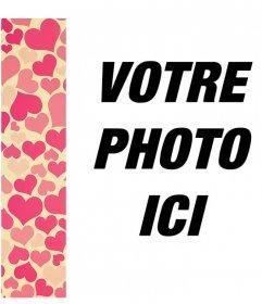 Cadre photo avec un motif de coeurs pour décorer