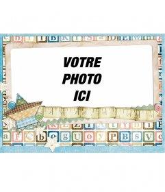 Cadre photo adolescent avec des lettres