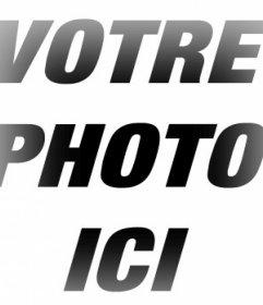 Cadre photo avec effet de bords de flou à vos photos