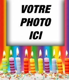 Effet photo avec des bougies danniversaire pour votre photo