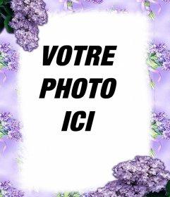 Fleurs violettes pour décorer vos photos avec cet effet
