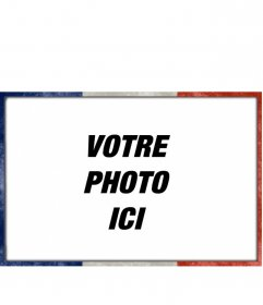 Cadre photo avec le drapeau français sur le bord de personnaliser vos meilleures photos téléchargement de photos en ligne en quelques étapes simples