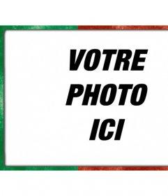 Cadre photo numérique avec portugal drapeau vert et rouge avec un style porté pour décorer vos photos en ligne gratuitement