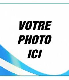 Cadre photo avec les couleurs du drapeau de lArgentine à mettre sur votre photo