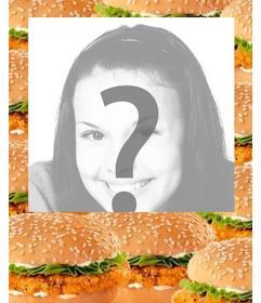 Cadre photo décoré avec des hamburgers