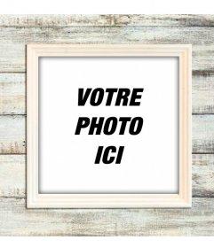 Cadre photo numérique sur un feu de bois mur en bois également personnaliser vos photos
