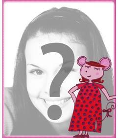 """Cadre photo de rat présumé mis une photo d""""un enfant dans le fond"""