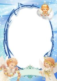 Mettez votre photo dans ce cadre décoré avec 3 anges
