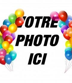 Ballons colorés pour décorer vos photos en tant que cadre et leffet libre de photo