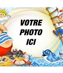 Cadre photo infantile pour les photos dété en ligne