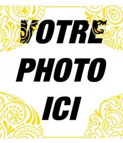 Ajouter un cadre doré de style tribal sur vos photos pour Photo cadre décoratif
