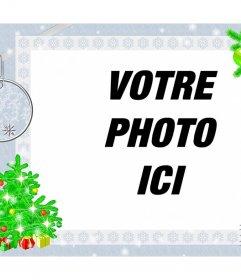 Cadre photo avec la conception de Noël pour décorer