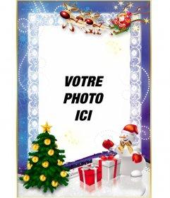 Modèle de Noël gratuit à personnaliser avec votre photo en ligne