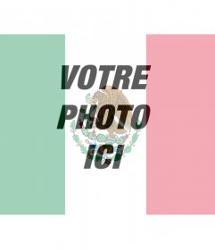 Mettez votre photo avec le drapeau du Mexique avec ce photomontage
