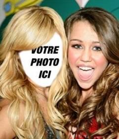 Photomontage où vous pouvez mettre votre visage sur Ashley Tisdale avec Miley Cyrus