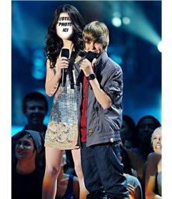 Photomontage pour Miranda Cosgrove en ligne avec Justin Bieber