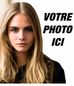 Stand by Cara Delevigne dans ce photomontage