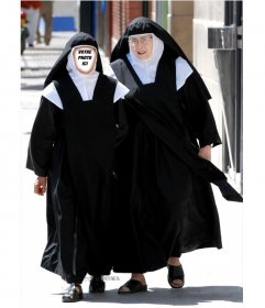 """Photomontage d""""une nonne, de faire un montage amusant et une blague"""