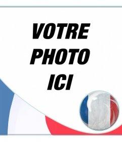 Montage avec le drapeau de la France de mettre le profil sur les réseaux sociaux.