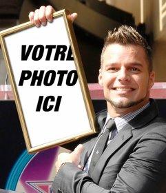 Montage avec Ricky Martin à apparaître sur votre table