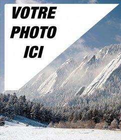 Carte postale dun paysage de neige Denver avec votre photo