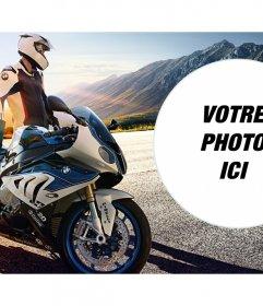 Photomontage avec un haut de gamme BMW marque de moto