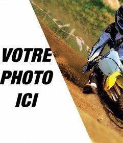 Montage photo avec une moto de cross