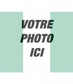 Photomontage du drapeau nigérian avec la photo que vous voulez
