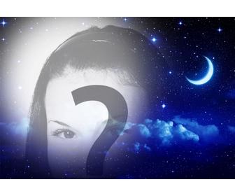 Nuit des étoiles et de la lune pour mettre votre photo en tant que filtre en ligne